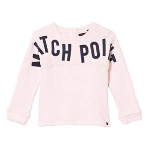 IKKS Girls Jumpers and knitwear Pink Bouclette Match Point Print Sweater Pale Pink