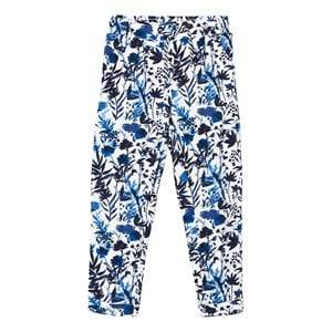 IKKS Girls Bottoms Blue Blue Floral Print Trousers