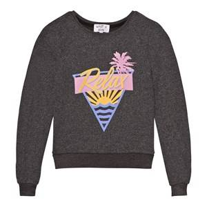 Wildfox Girls Jumpers and knitwear Black Black Relax Print Baggy Beach Jumper
