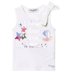 Simonetta Girls Tops White I Love Summer Tank Top White