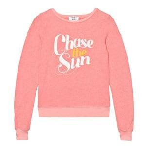Wildfox Girls Jumpers and knitwear Pink Peach Chase the Sun Print Baggy Beach Jumper
