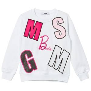 MSGM Girls Jumpers and knitwear White White Multi Logo Barbie Sweatshirt