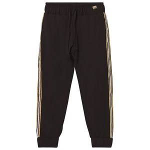 Relish Girls Bottoms Black Black Lightweight Track Pants with Glitter Trim