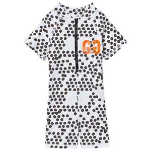 Gardner and the gang Unisex Swimwear and coverups Grey Dot Shark UV Suit