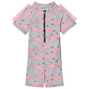Gardner and the gang Unisex Swimwear and coverups Pink Pink Shark UV Suit