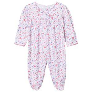 Kissy Kissy Girls All in ones Pink Pink Floral Frill Front Jersey Babygrow