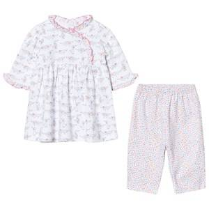 Kissy Kissy Girls Clothing sets Pink White and Pink Dachshund Print Dress and Print Legging Set