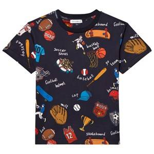 Dolce & Gabbana Boys Tops Navy Navy Sports Cartoon Print Tee