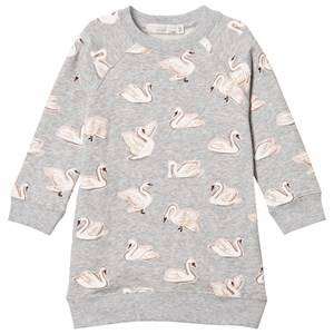 Stella McCartney Kids Girls Dresses Grey Grey Leona Swan Dress