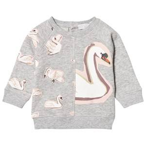 Stella McCartney Kids Girls Jumpers and knitwear Grey Betty Swan Print Sweatshirt Grey