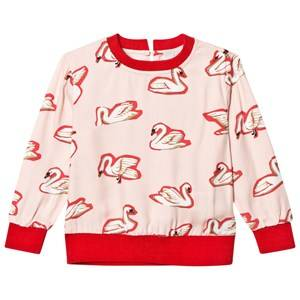 Stella McCartney Kids Girls Tops Pink Irma Swan Print Top Multicolor