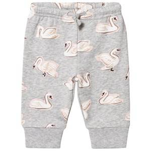 Stella McCartney Kids Girls Bottoms Grey Grey Swan Print Sweat Pants