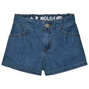 Molo Girls Shorts Blue Alta Shorts Soft Denim Blue