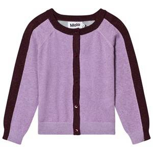 Molo Girls Jumpers and knitwear Purple Geraldine Cardigan Forestberry