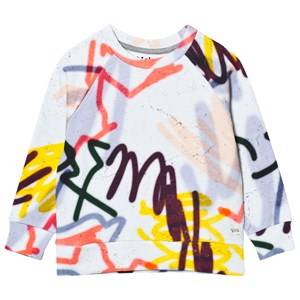 Molo Girls Jumpers and knitwear White Marina Sweatshirt Graffiti