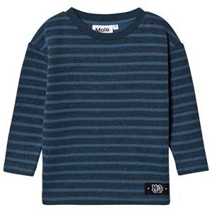 Molo Boys Jumpers and knitwear Blue Mac Sweatshirt Stellar Blue Stripe