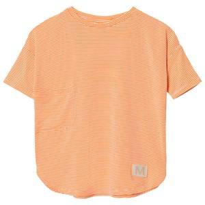 Molo Girls Tops Pink Rana T-Shirt Fiery Coral Mini Stripe