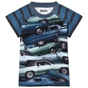 Molo Boys Tops Blue Egon T-Shirt Stacked Cars