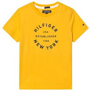 Tommy Hilfiger Boys Tops Yellow Yellow Branded Tee