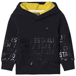 Tommy Hilfiger Boys Jumpers and knitwear Navy Branded Over Head Hoodie Black