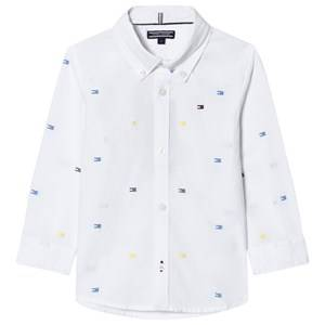 Tommy Hilfiger Boys Tops White White All Over Flag Print Shirt