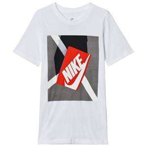 NIKE Boys Tops White White Shoe Box Graphic Tee