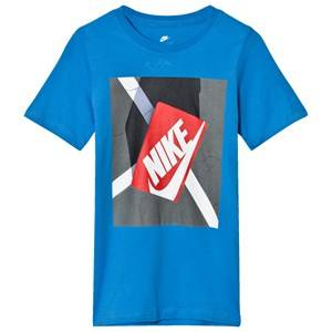 NIKE Boys Tops Blue Blue Shoe Box Graphic Tee