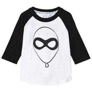 Scamp & Dude Unisex Tops White Super Charged Raglan – Balloon Man