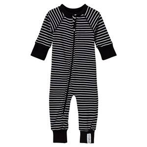 Geggamoja Unisex Childrens Clothes All in ones Black Classic Pyjamas Black/White