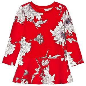 Joules Girls Dresses Red Red Peony Print Jersey Dress