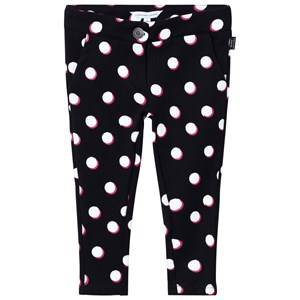 Little Marc Jacobs Girls Bottoms Black Spot Jersey Trousers Black, White and Pink