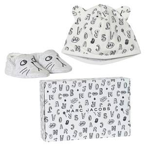 Little Marc Jacobs Unisex Clothing sets Grey Grey Animal Print Jersey Hat and Booties Set in Gift Box