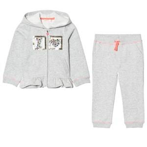 Billieblush Girls Clothing sets Blue Grey Marl Applique Heart Peplum Tracksuit