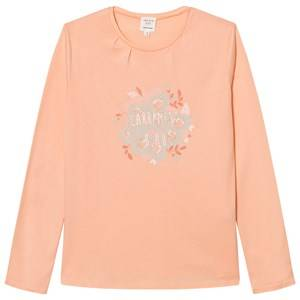 Carrément Beau Girls Tops Pink Pink Floral Branded Long Sleeve Tee