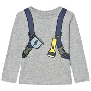 Stella McCartney Kids Boys Tops Grey Grey Back Pack Barley Boy Tee