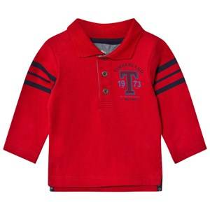 Timberland Boys Tops Red Red Jersey Letter Long Sleeve Polo