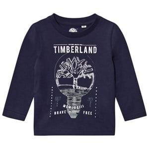 Timberland Boys Tops Navy Navy Branded Tee