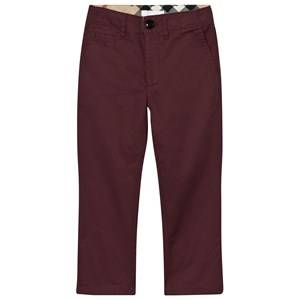 Burberry Boys Bottoms Red Teo Chinos Burgundy