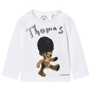 Burberry Boys Tops White Thomas Bear Print Tee White