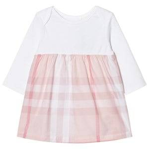 Burberry Girls Dresses Pink Check Detail Dress Pale Pink
