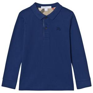Burberry Boys Tops Blue MaLong Sleeve Polo Marine Blue