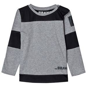 The BRAND Boys Childrens Clothes Tops Grey Mesh Tee Grey Mel