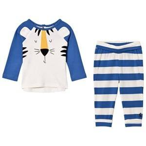 Tom Joule Boys Clothing sets Blue Blue Tiger Applique Top and Bottoms Sets