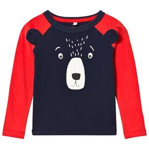 Joules Boys Tops Navy Navy Bear Applique Raglan Sleeve Tee