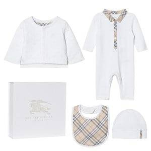 Burberry Unisex Clothing sets White 4 Piece Zayden Baby Gift Set