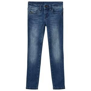 Diesel Girls Bottoms Blue Blue Washed 5 Pocket Skinzee Low Jeans