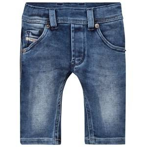 Diesel Boys Bottoms Blue Blue Denim Washed Jeans