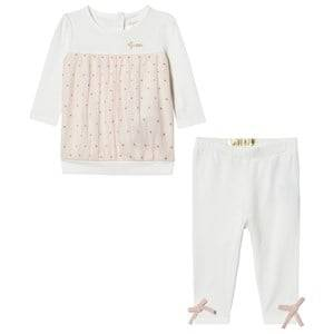 Guess Girls Clothing sets Cream Cream Tulle Jersey Dress Leggings Set