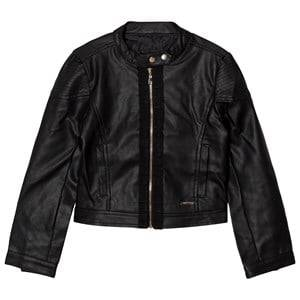 Guess Girls Coats and jackets Black Black Pleather Biker Jacket