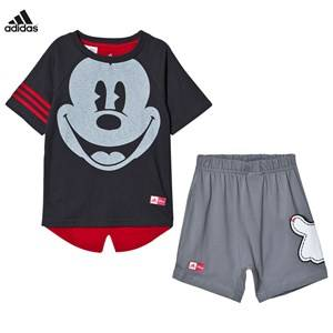 adidas Performance Boys Clothing sets Grey Grey Disney Micky Mouse Tee Shorts Set